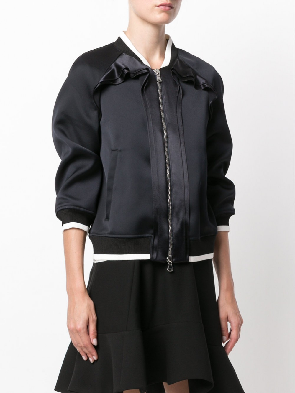 3.1 Phillip Lim Ruffle-trim bomber jacket | P1716100BON PH420