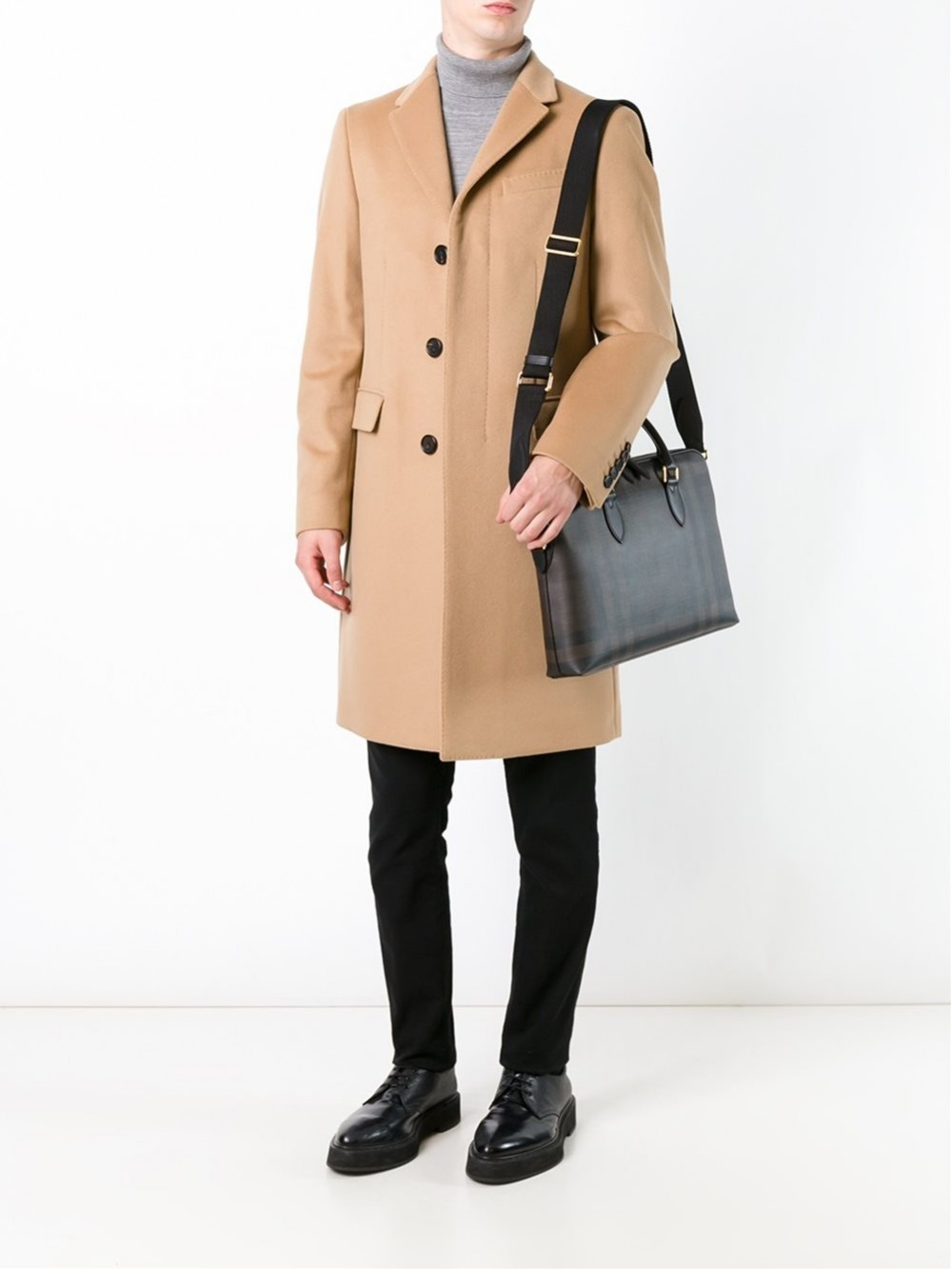 Burberry Buttoned Front Coat