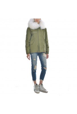 Mr&Mrs Green Parka with White fur hood | MP036S C2