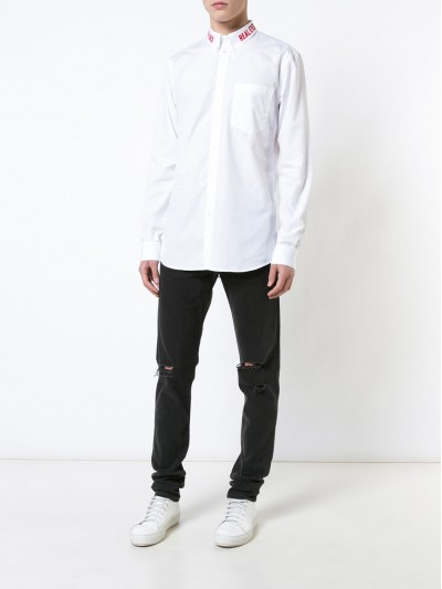 Givenchy REAL EYES Embroidered SlimFit Shirt | 17F6002300 100