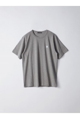 Acne Nash Face T-shirt 25E173 Light Gery