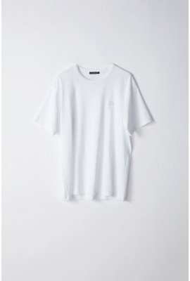 Acne Nash Face T-shirt 25E173 OP WHT