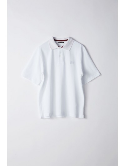 Acne Newark face Polo 25K173 WHITE