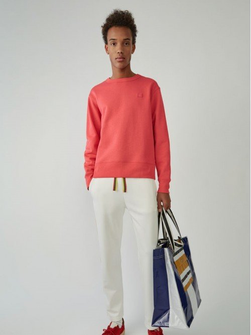 Acne Fairview Face neon SweaterShirt 2HL173 Pink