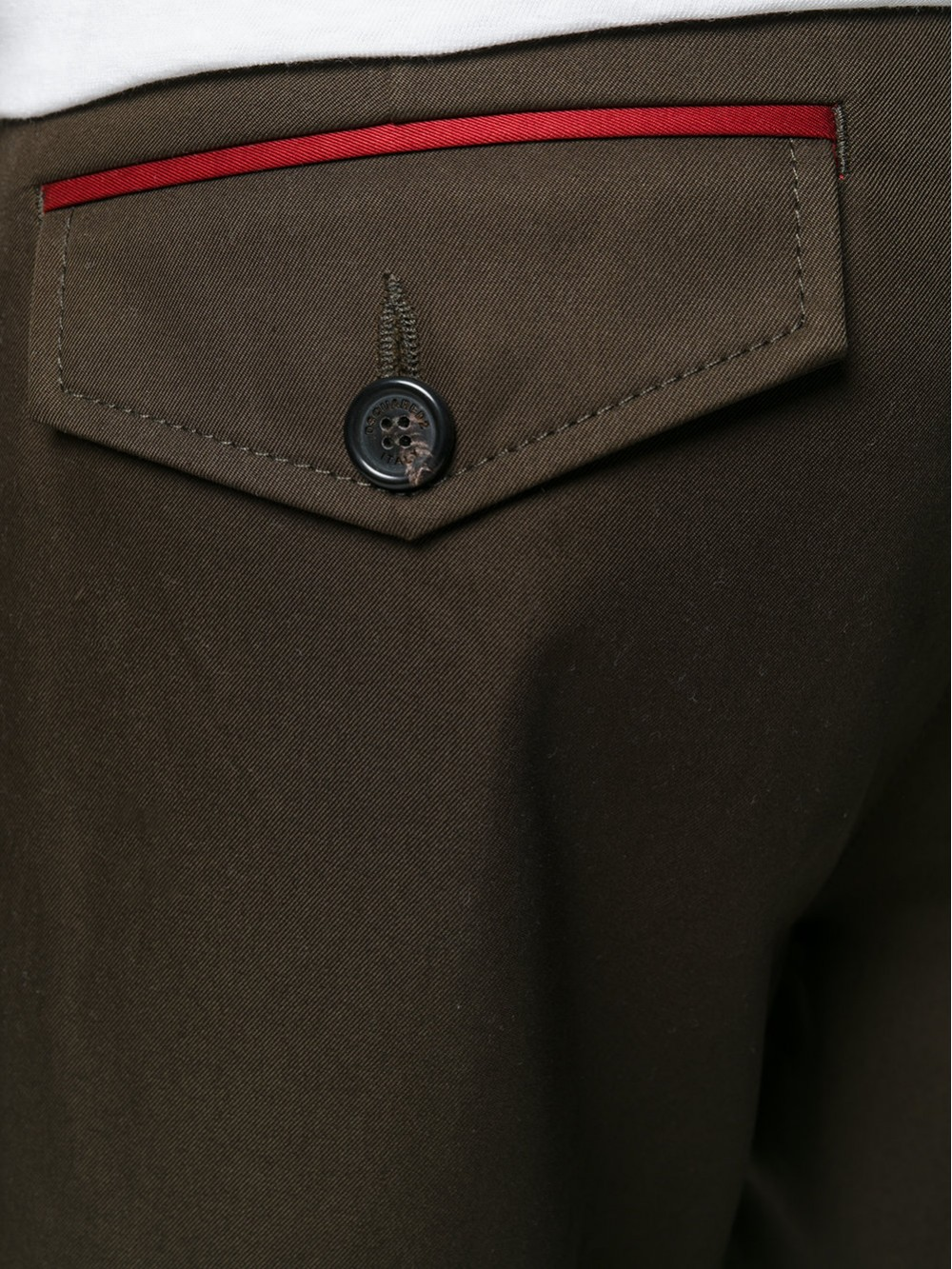 Dsquared2 Military Trousers With Denim Hem
