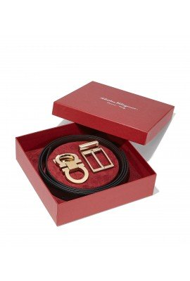 Salvatore Ferragamo GANCINI ADJUSTABLE BELT GIFT BOX 679761 671994