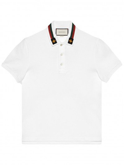 Gucci Web and bee Embroidery Polo 453865 X5H77 9021 #017