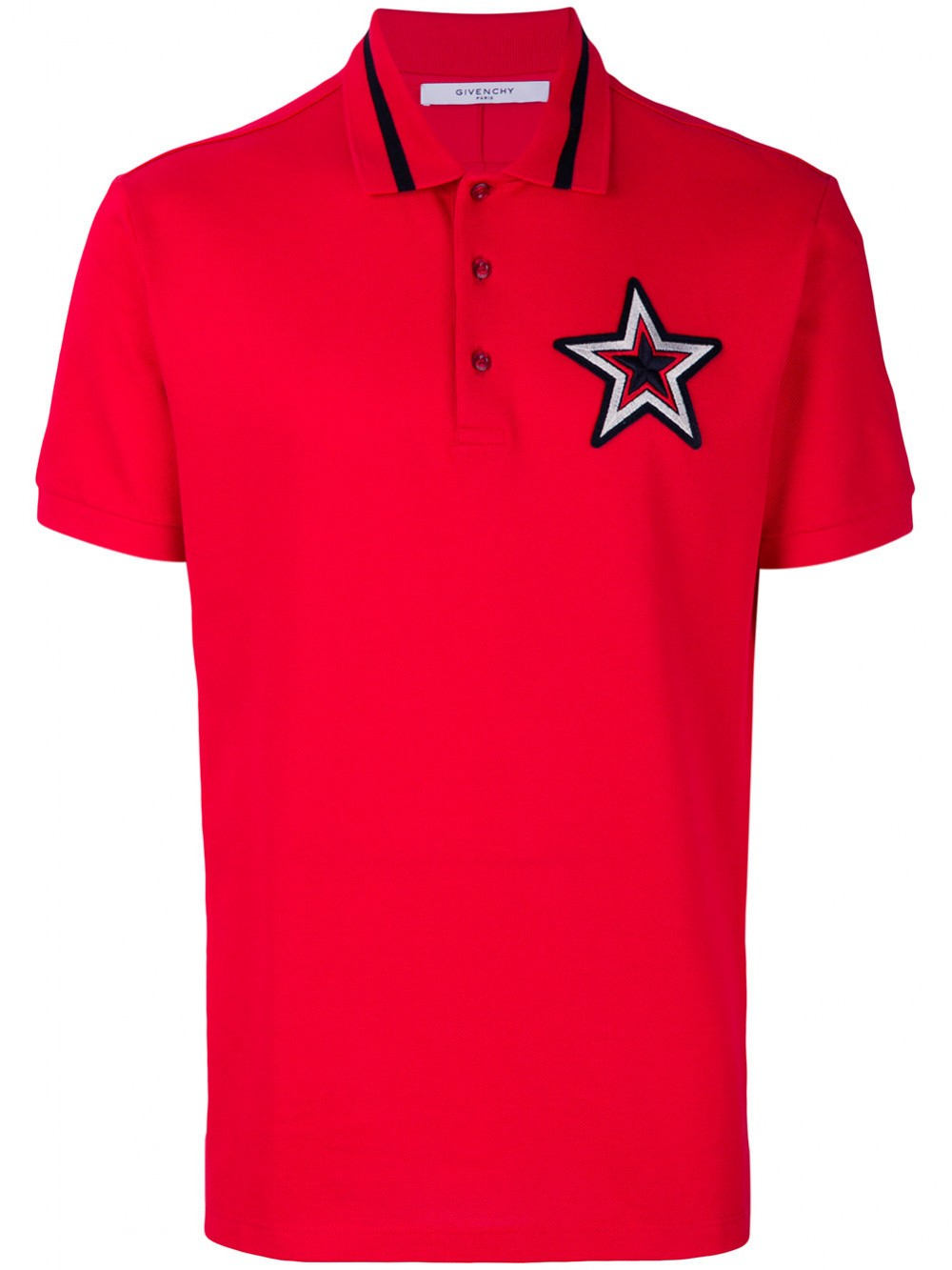 Givenchy Mens Cuban Fit Star Patch Polo