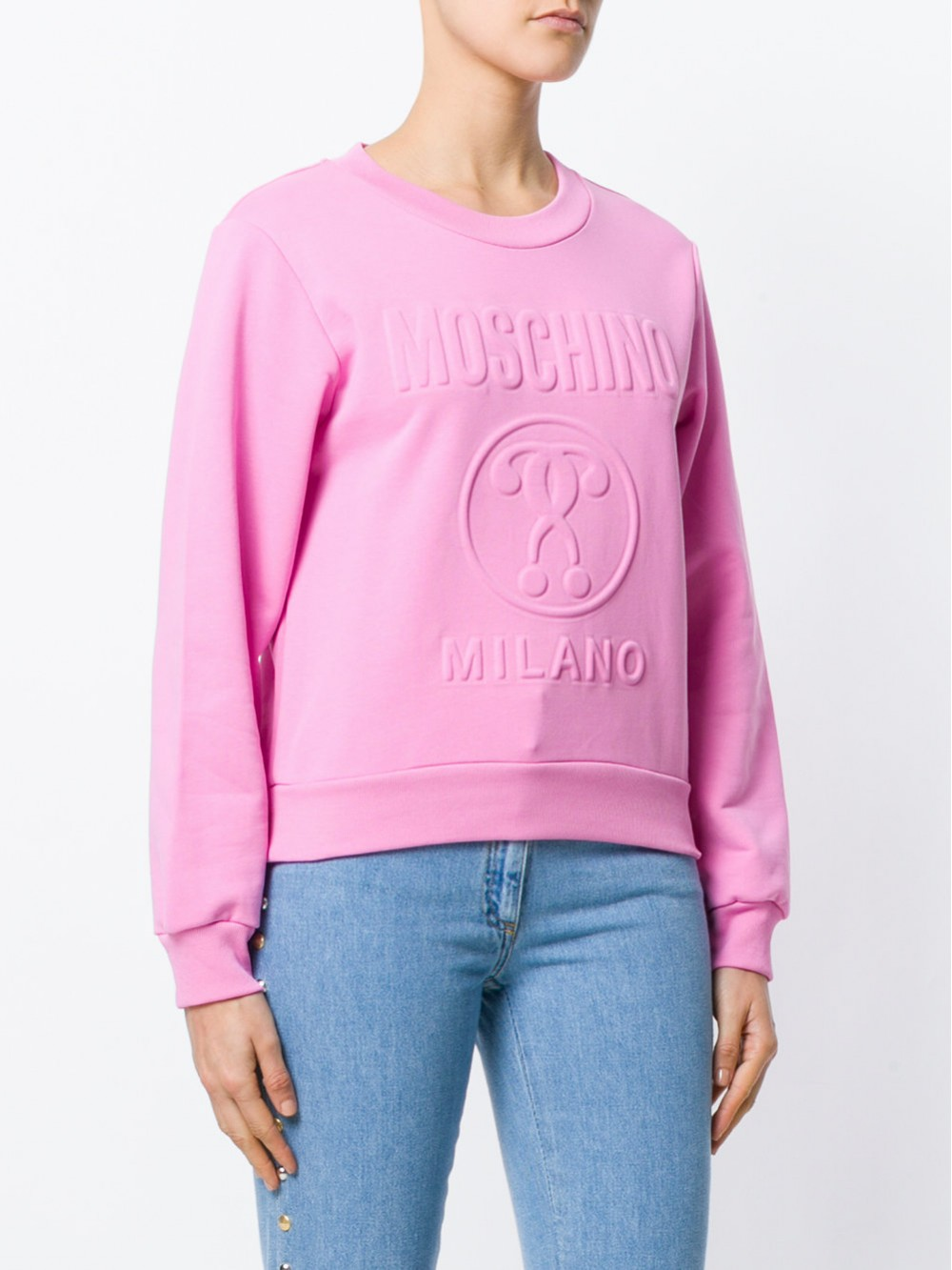Moschino Embossed Logo Sweatshirt 17160527 A3208
