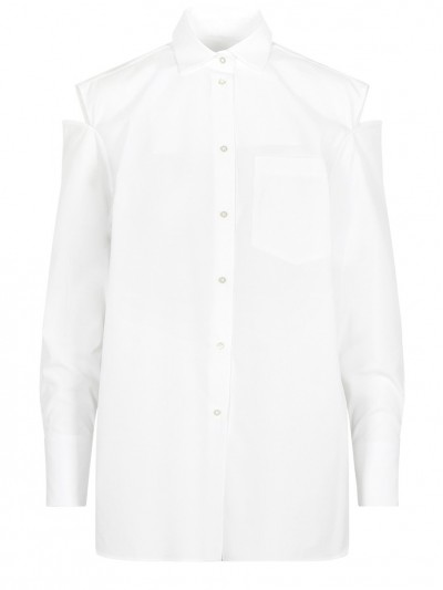 Valentino Cut-out White Shirt PB3AB10A1M1 0BO #88