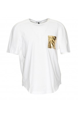 Versace Collection Pocket Gold T-shirt V800817A VJ00180 V1001
