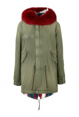 MR & MRS ITALY Womens Military Green Cotton Parka 172PFS PM339S 4143 #18