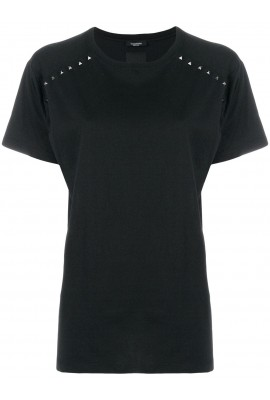 Valentino Women Black T-Shirt PB3MG07B3UC 0NO
