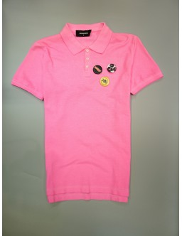 DSQUARED2 PINK POLOSHIRT S74GL0006 S22743 911 #020