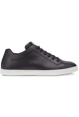 Fendi Black Leather Sneaker 7E1075 NA7 F0KUR