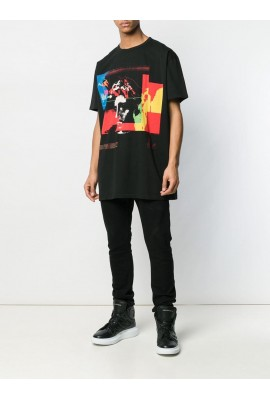 Balmain Graphic T-shirt RH01060I145 AAA