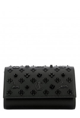 Christian Louboutin Black Leather Clutch 1175018 PALOMA B253