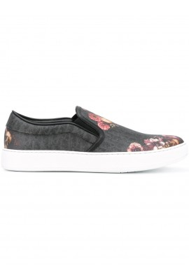 Dior Homme Black Floral Slip-On
