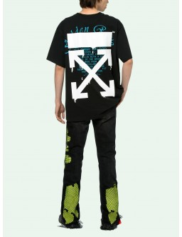 OFF WHITE BLACK GRAPHIC TEE OMAA027R20185005 1001