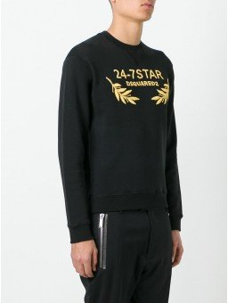 Dsquared2 24-7STAR Embroidered Sweater S74GU0181S25030 900